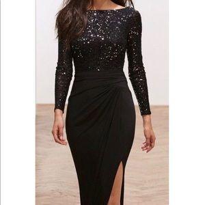 Ralph Lauren Long Sleeve Sequined Dress sz 16